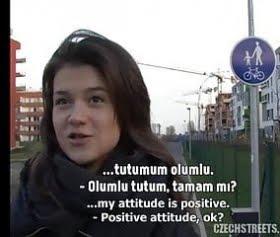 18 yaşında Çek kızlar ile sokakta seks teklifi